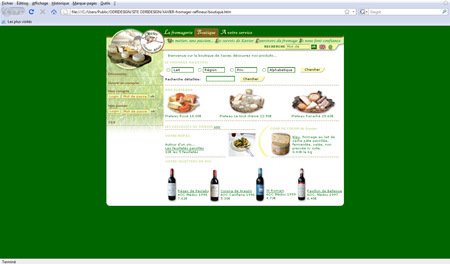 webdesign site marchand